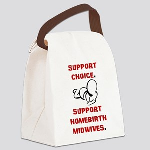 Support Homebirth Choice Canvas Lunch Bag